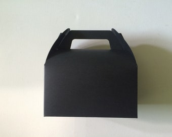 10 Tote  Bakery  Boxes in Black
