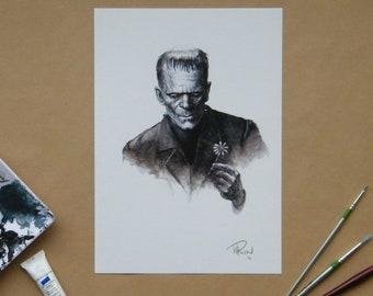 Frankenstein print A3