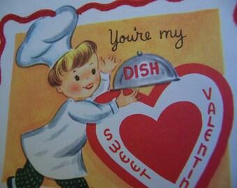 your my dish vintage valentine
