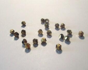Bronze Crystals Swarovski Set of 20- 4mm