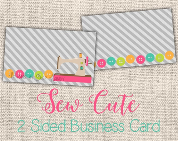 Items similar to sewing business card 2 sided embroidery business items similar to sewing business card 2 sided embroidery business card vista print business card template sewn template sewing machine business card colourmoves Choice Image