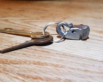 Elephant head key ring