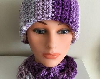 Purplish Ponytail Hat