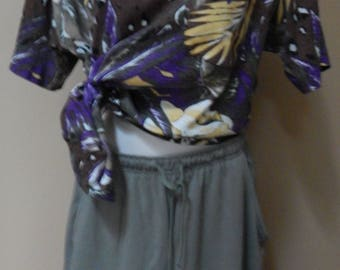 90s 2 pc, Bobbie Brooks shorts and Sakura Sport jungle safari shirt