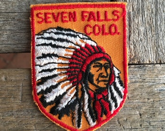 Seven Falls Colorado Vintage Travel Souvenir Patch from Voyager - LAST ONE!