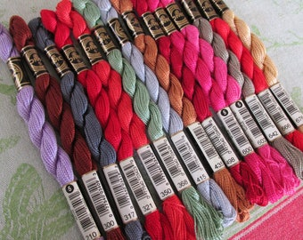 DMC Pearl  Cotton Thread,  Size 5 -  Sold Individually  -  58 colors available - You pick Color