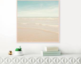 Serene Beach Print, Beach Photography, Ocean Print, Printable Beach decor, Ocean Photography, Coastal Wall Decor, Extra Large Printable Art