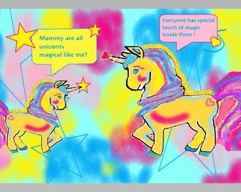 Magical Moment - Digital Unicorn Art Print