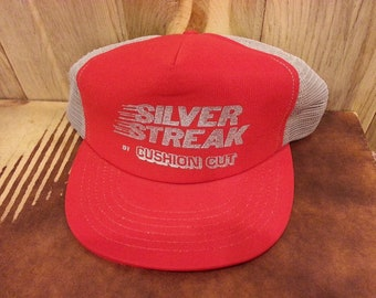 90s Silver Streak by Cushion Cut Mesh Trucker snapback hat!