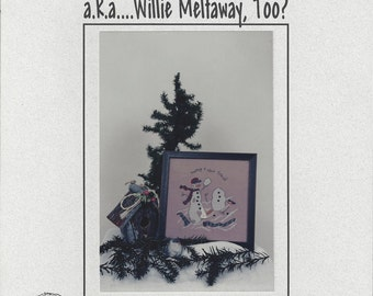 "Clearance - ""Making a New Friend a.k.a....Willie Meltaway, Too?"" Counted Cross Stitch Chart by DKT Originals"