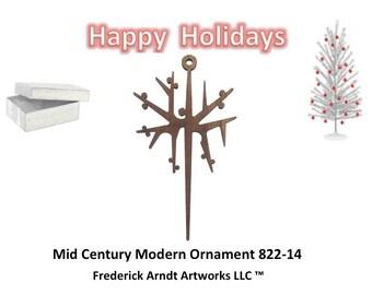 822-14 Mid Century Modern Christmas Ornament