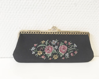 Black pocket, black wallet, beauty keychain, comb and mirror, beauty cases, beauty kit, clutch for evening, black purse,