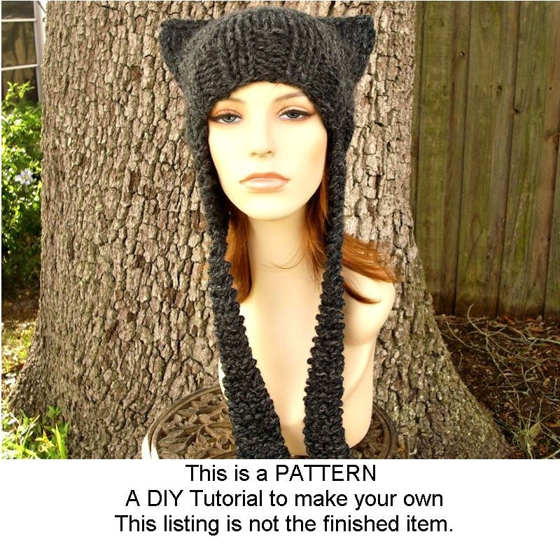 Instant Download Knitting Pattern Knit Hat Knitting Pattern