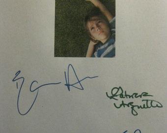 Boyhood Signed Film Movie Screenplay Script X4 Autograph Richard Linklater Ethan Hawke Patricia Arquette Ellar Coltrane signatures
