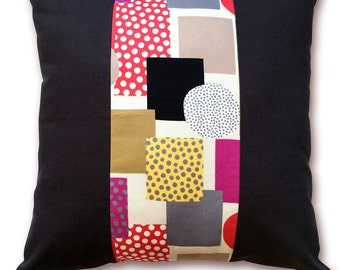 Cushion Cover Pillow Cover / Black and Color(Cushion filler is NOT included.)