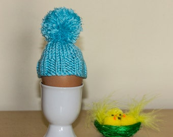 Blue Sparkly Egg Cosy, egg warmers, egg hat