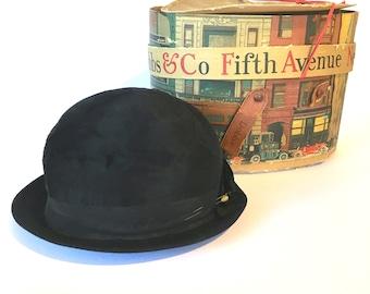 Dobbs of New York Woman's Black Beaver Vintage Hat