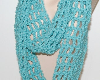Crochet Scarf Pattern Easy Tutorial Light Airy Infinity / Long Scarf 3 Sizes GUIDE to use favorite size crochet hook PDF Instant Download