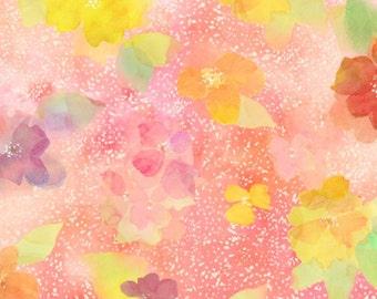 Quilting Treasures - Sun Kissed - Tossed Blossoms