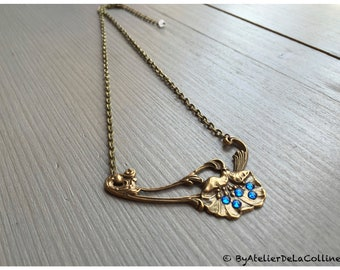 Poppy Art Nouveau necklace