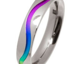 Titanium Colourful Wave Ring (WITHOUT DIAMONDS)