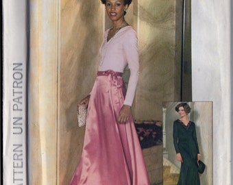 Simplicity 7166 Misses Long Wrap Skirt, Dress, Top 70s Vintage Sewing Pattern Size 14 Bust 38 Jiffy