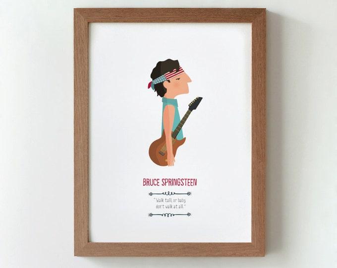 """Ilustración """"Bruce Springsteen""""."""