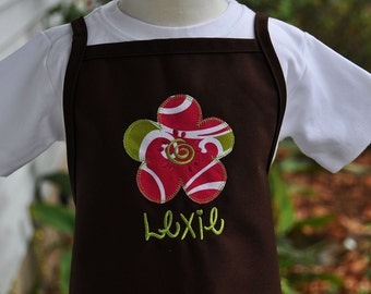 Monogrammed Toddler Apron - Personalized Apron - Personalized Apron for Kids - Kitchen Apron - Cooking Apron - Birthday Gift for Kids