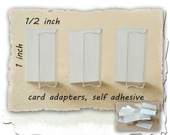 Earring Card Adapters, 100 Plastic Adhesive  Card Adapters  Earring Card Adapters   1 x 1/2 inch  Plastic Card Holders