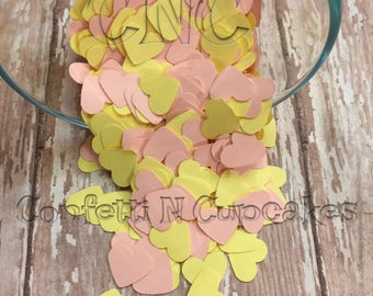 Paper Confetti Hearts, Easter Confetti, Table Scatter Sprinkle, Baby Shower Decor, Heart Die Cuts, Party Favor Confetti, Bridal Brunch