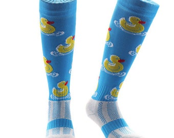 Samson® Rubber Duck Funky Socks Sport Knee High Sport Football Rugby Soccer