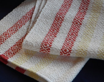 Handwoven Cotton and Rayon Towel (1216A)