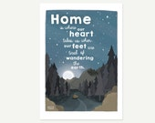 Home illustration print  ...