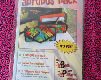 The Apropos Pack Clutch Purse Pattern by Studio Kat Designs with 3 Different Flap Shapes