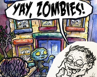 Yay, Zombies! Picture Book + Personalized Zombie Caricature