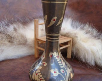 Vintage brass Vase, Decorative Vase, Flower Vase, brass Decor, offis decor,  Flower Vase, Old brass Vase.
