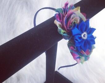 Shabby Rainbow Swirl Headband