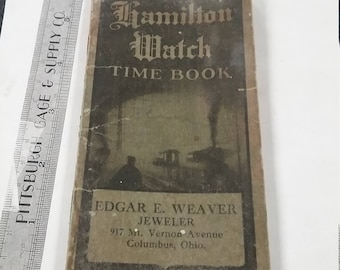Vintage used Hamilton Watch Time Book