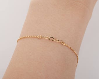 """10pcs - 6"""" Finished Bracelet Gold Chain with Lobster Clasp, 230 4dc chains ,Tail Chain, basic Chain  [FB-230-PG]"""