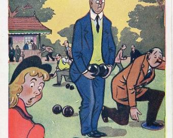 Very English Humour – Trow Art, Vintage postcard circa 1950s.