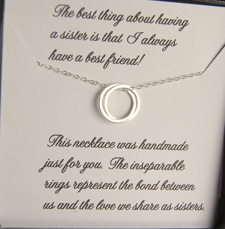 SISTER Necklace Sister And Maid Of Honor Gift Message