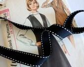 Black Saddle Stitch Ribbo...