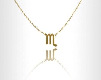 Scorpio zodiac necklace, Zodiac jewelry Gold , zodiac necklaces, zodiac jewelry zodiac sign Scorpio zodiac sign