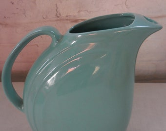 """Vintage Retro HALL China Teal Water Pitcher """"Nora"""" Pattern"""