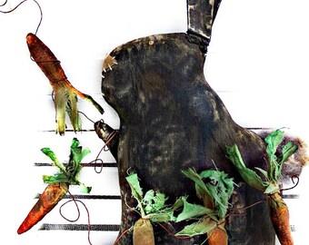 Primitive Rabbit Doll | Grungy Rabbit Doll | Spring Decor | Easter Rabbit | Bunny decoration | Folk Art Rabbit Doll