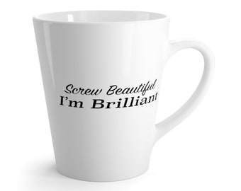 Greys Anatomy Screw Beautiful IM Brilliant Latte Mug