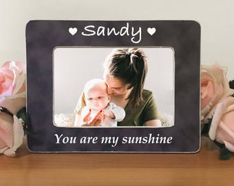 Baby Personalized Picture Frame Baby gift First Birthday New Baby i7