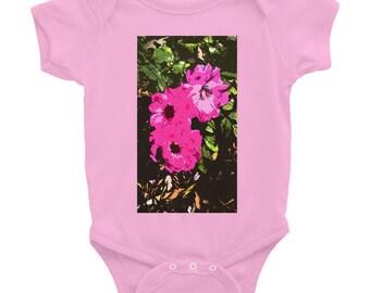 3 Pink Roses Onesie -Pink