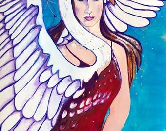 Swan Goddess-Swan Song - Pagan Goddess Art