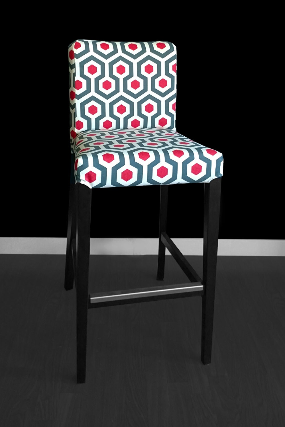 Geometric Hexagon Ikea Henriksdal Bar Stool Chair Cover